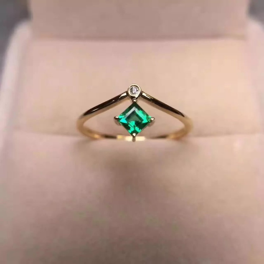 925 sterling silver Emerald Rings gift for women jewelry emerald Wedding ring Fine Jewel ...