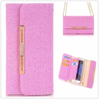Luxury Jewelled Leather Wallet Phone Case For IPhone 7 7 Plus Flip Cover Card Stand Magnetic