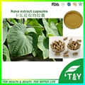 Pó do extrato de kava Kavalactones à base de plantas para a depressão cápsula 500 mg * 100 pcs