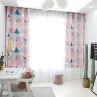 حار الحديثة هندسية طباعة ستائر تعتيم لغرفة المعيشة غرفة نوم الصلبة نافذة العلاج مكفوفين الستارة المنزل الديكور cortinas