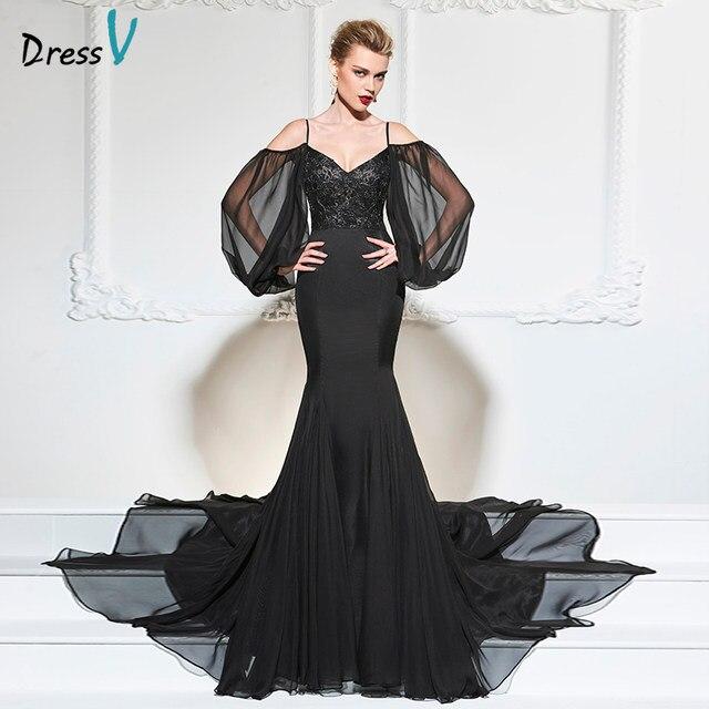 Black formal dress long sleeve