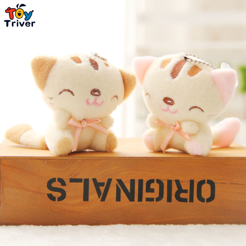 Wholesale Japan fortune cat lucky cats doll phone keychain pendant plush toy wedding birthday party cheap gift present Triver uni fortune