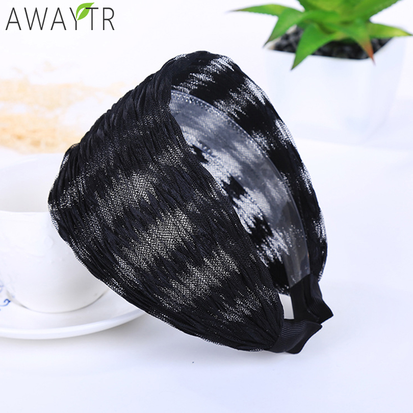 1Pcs Women Wide Fabric Headband Hair Hoop Vintage Printing Cloth   Headwear   Headband Wide Hair Accessories Hair Dress