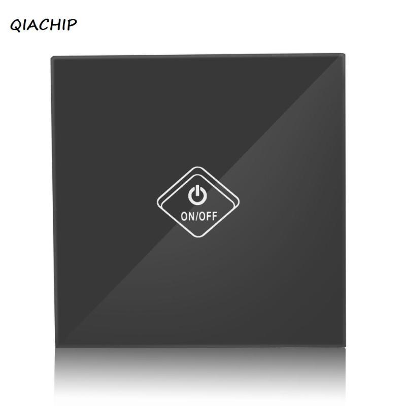 QIACHIP WiFi Smart Switch 1 Gang Wall Switch Smart Home UK 1 Gang Smart Wireless Remote Wifi Light Switches Control via phone H3 3gang1way uk wall light switches ac110v 250v touch remote switch