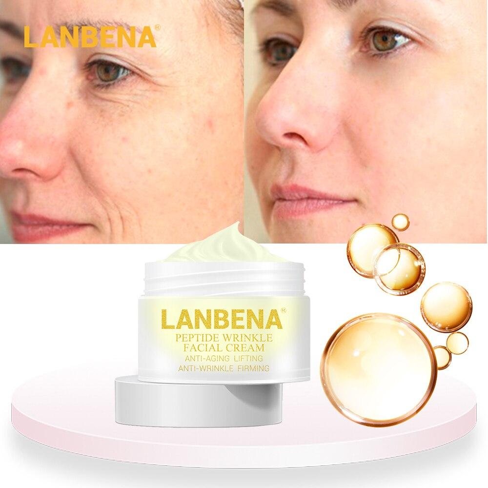 LANBENA пептид колагеновый крем от морщин крем против старения кожи, отбеливание лифтинг, укрепление лечение акне Гиалуроновая кислота Улитка ...