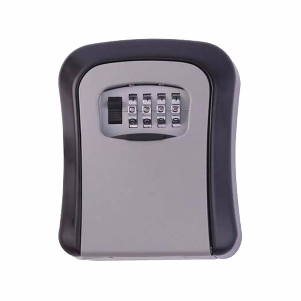 Key Safe Box 4 Digit Password Lock Key Storage Secret Box Home Wall-Mounted Coffre Fort Money  10 Colors