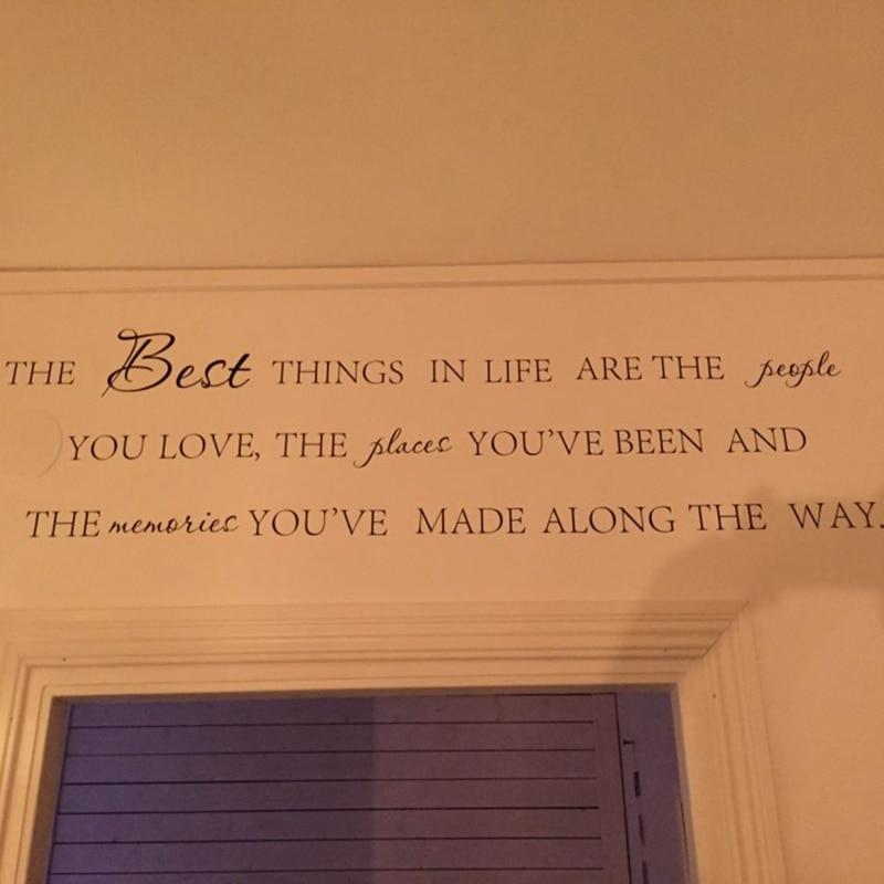 Najboljše stvari v življenju Vinilne stenske nalepke ~ Love - Dekor za dom - Fotografija 4