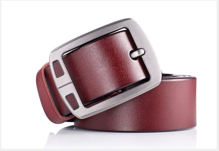 Cowboy Luxury Strap 100% Cowhide Genuine Leather Belts For Men Brand Male Vintage Fancy Jeans Designer Belt Men High Quality