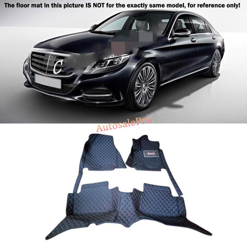For Mercedes Benz S Class W222 2014-2015 Right & Left Hand Drive Black Front Rear Floor Mat Carpets Pad cover for mercedes benz c class w204 2008 2009 2010 2011 2012 2013 right left hand drive black front rear floor mat carpets pad cover