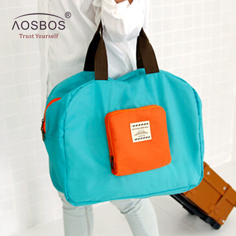Aosbos Fashion Oxford Travel Cosmetic Bag Large Capacity Waterproof Foldable Storage Bags High Quality Hit Color Toiletry Bag