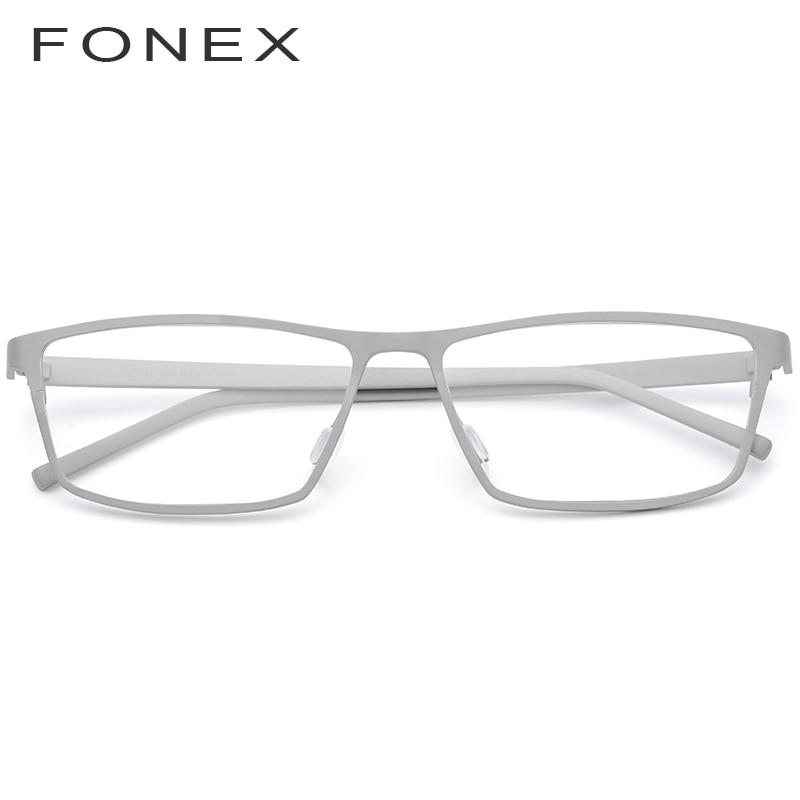 Titane pur lunettes cadre hommes 2019 nouvelles lunettes de vue Prescription pour hommes lunettes carrées hommes myopie optique montures lunettes - 2