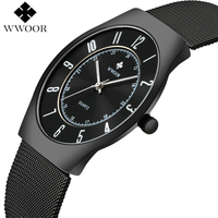 2017 WWOOR Top Brand Luxury Men Ultra Thin Waterproof Sports Watches Men S Quartz Wrist Watch