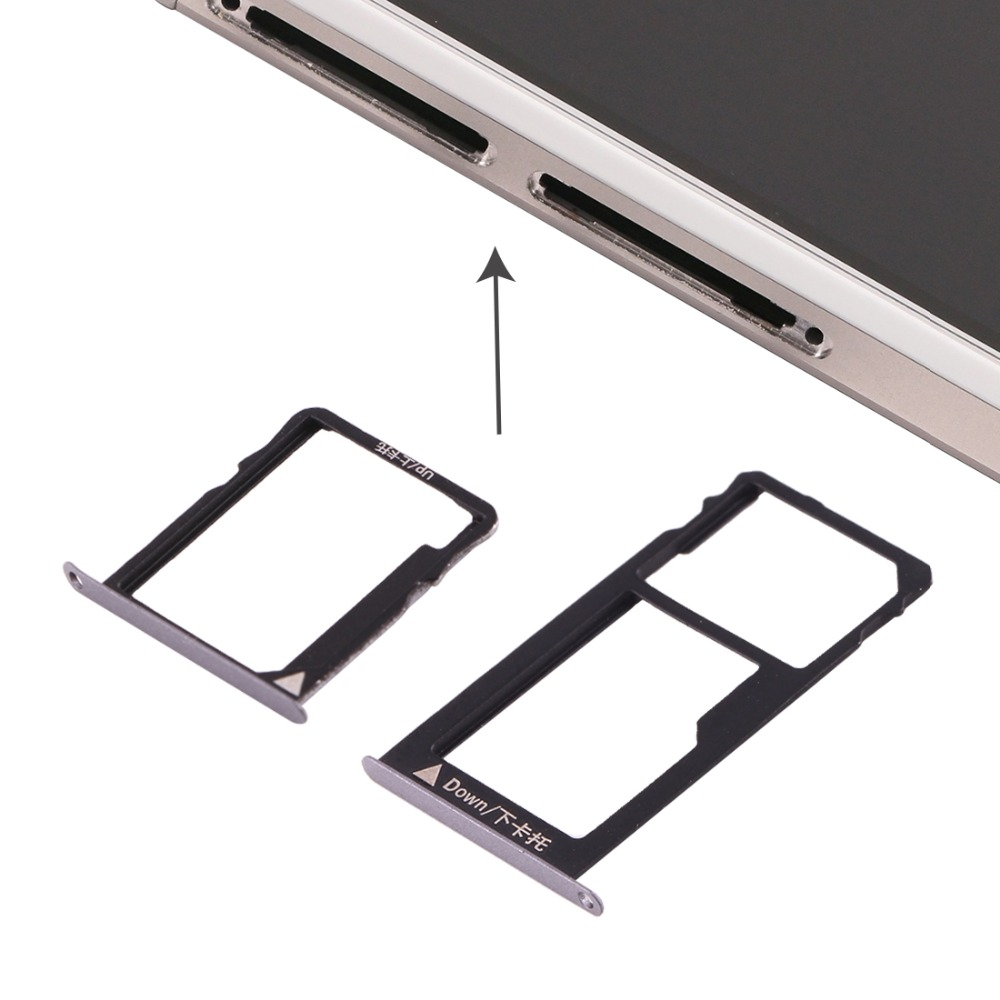 IPartsBuy New For Huawei Honor 5X / GR5 Micro SIM Card Tray + Nano SIM & Micro SD Card Tray