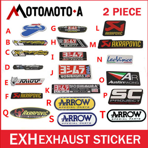 3D Aluminium Heat-resistant mivv sc Motorcycle Exhaust Pipes Decal Sticker Cool Personality Scorpio Yoshimura Universal Stickers(China)