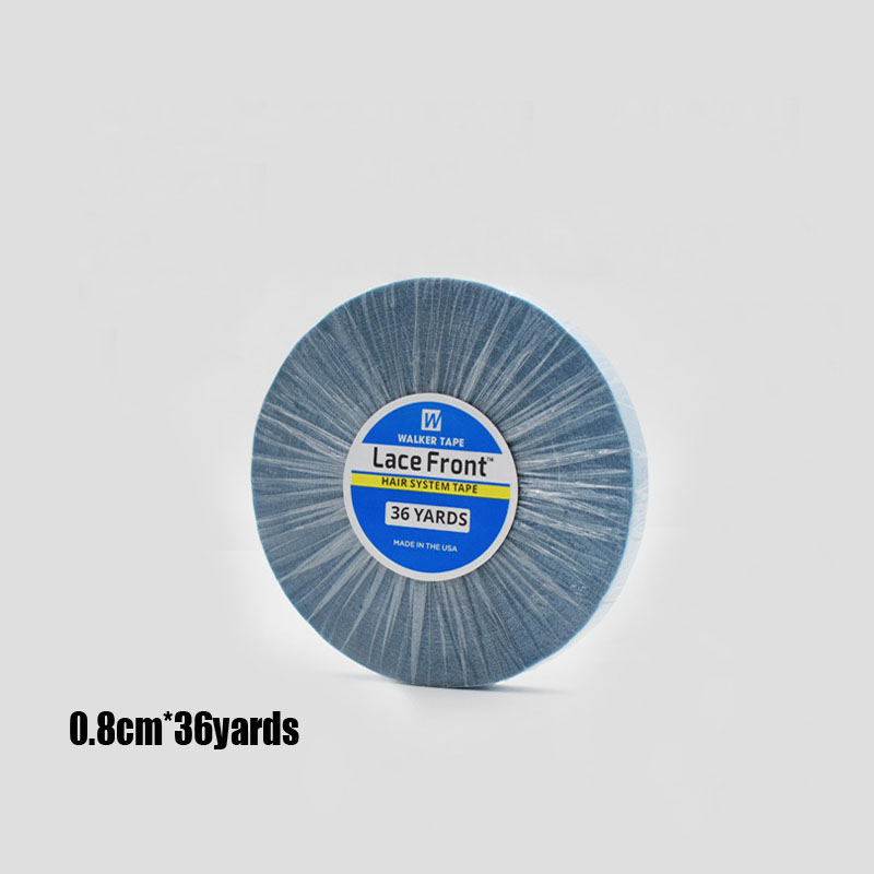 1 Roll 36Yards 0.8CM Double Sided Adhesives Blue Lace Front Support WalkerTape For Tape Hair/Skin Weft Hair/Lace Wigs/Toupee
