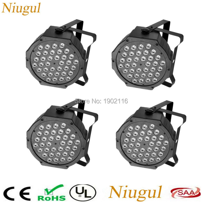 4pcs/lot DHL/FedEx Free Shipping 36x3W LED Par Lights RGB Flat Par LED DMX512 Control Disco KTV Lights Professional Dj Equipment