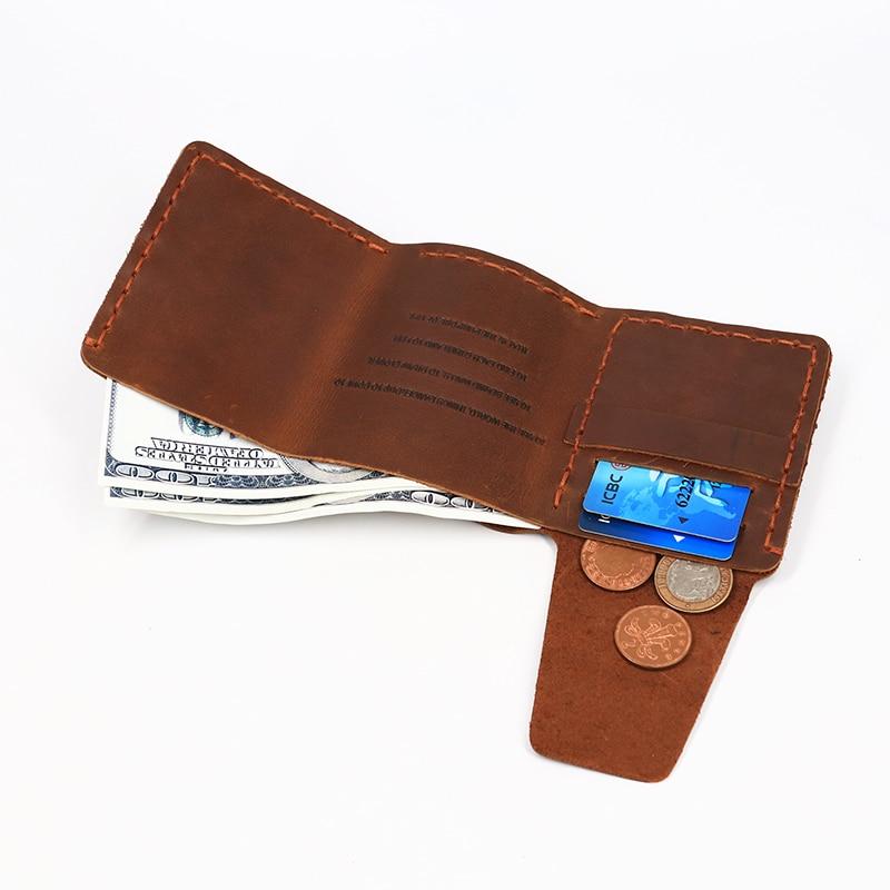 SIMLINE äkta läder plånbok män Det hemliga livet av Walter Mitty - Plånböcker - Foto 6