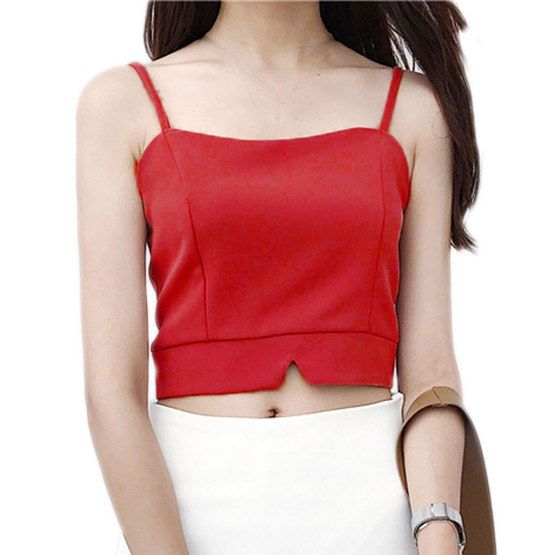 Summer Sexy Slim Vest Crop Top Sexy Sleeveless Tank Tops Camis Women Fashion Cloth