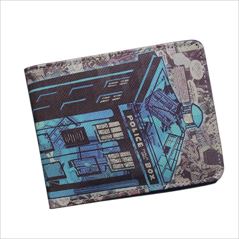 2017 New Arrival Mysterious Doctor Dr.Who Anime Wallet S.H.I.E.L.D. Short Purse Bifold Comics Money Bag For Teenager Boys Girls
