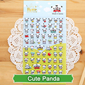 SST* 1 Sheet ' Cute Panda ' Diary Decoration Kids Stickers 3D PVC Korea Stationery kindergarten Baby Gift Children Toys Kawaii+