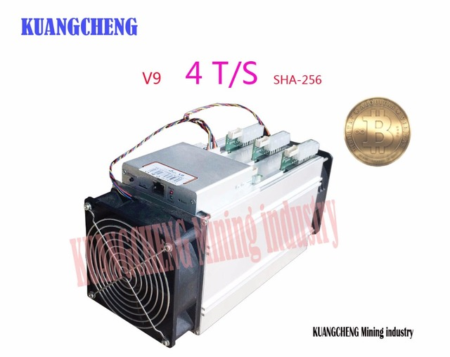 KUANGCHENG asic miner BITMAIN antminer V9 4TH/s (with PSU) Bitcoin Asic miner V9 Better than AntMiner S9 WhatsMiner M3 T9+ E9 1