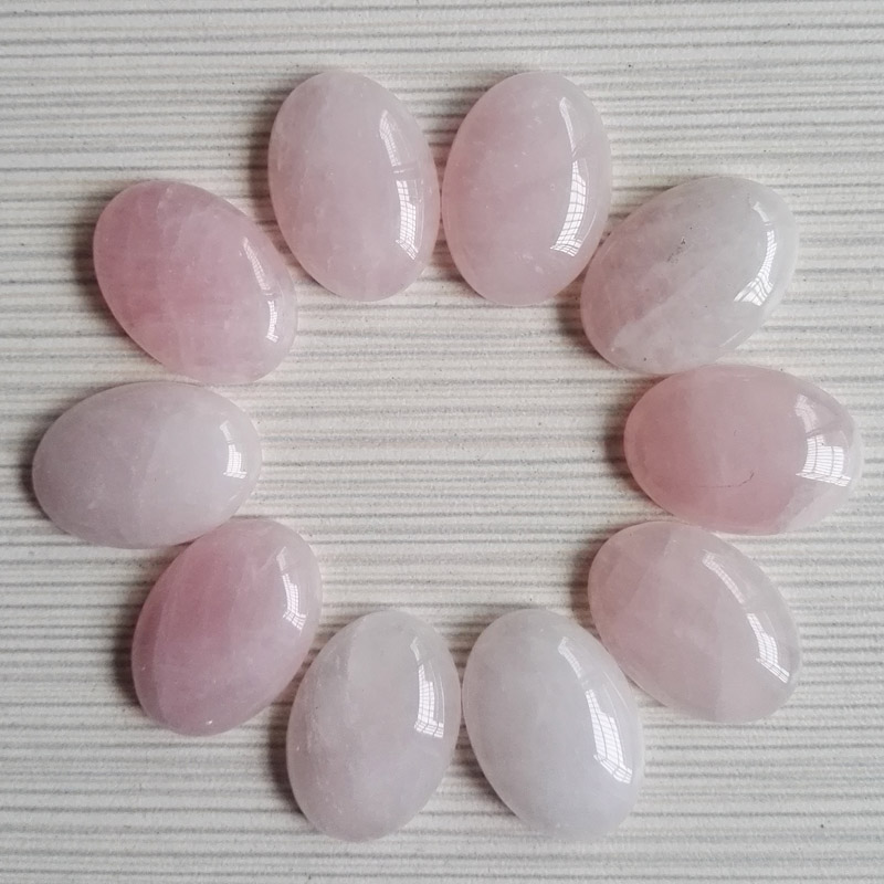 Wholesale good quality 25x18 MM 30pc Pink Crysta natural stone beads for jewelry making charm fashion cab cabochon Free shipping