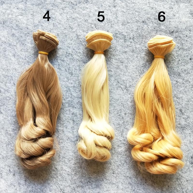 1PCS / LOT Retail Ny Ankomst BJD Tillbehör Culry Doll Hair 15cm DIY - Dockor och tillbehör - Foto 3