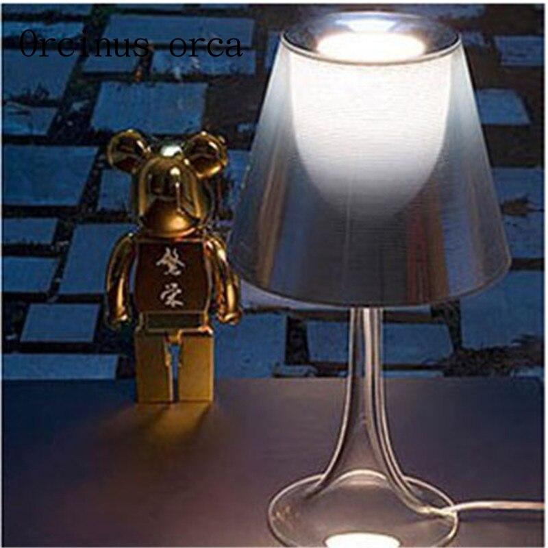 Простые современные акрил цвет лампы комнате стало модно спальня ночники