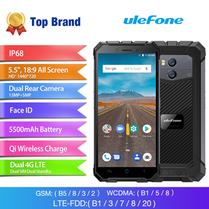 "Image 2 - Ulefone Rüstung X Wasserdichte IP68 Smartphone 5.5 ""HD Quad Core Android 8,1 2GB + 16GB 13MP NFC gesicht ID 5500mAh Drahtlose Lade Telefon"