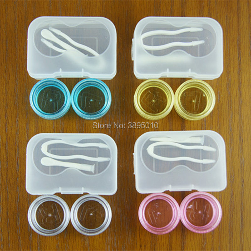 Transparent Simple Contact Lens Case Lenses Container Material Box F1129