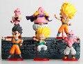 6 pcs frete grátis Q versão Figuras sete dragon ball Kakarotto Son Goku Majin Buu mão enfeites de boneca brinquedos para crianças história em quadrinhos
