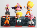 6pcs free shipping Figures Q version seven dragon ball hand Son Goku Kakarotto Majin Buu doll ornaments children toys comic