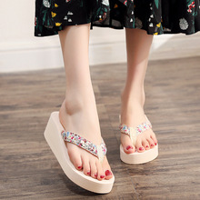2019 Summer Shoes Woman Summer Sexy Flip Flops Women Sandals Bohemian Muffin Slope With Sandals Women's Slippers zapatos mujer
