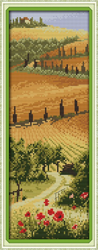 <font><b>Italian</b></font> manor Scenic DMC cotton cross stitch kits 14ct white 11ct printed embroidery DIY handmade needle work wall <font><b>home</b></font> <font><b>decor</b></font>