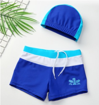 Swimwear for Children kids boys swim trunk boxer shorts with swimming cap cute baby boy swimsuit bathing suit 2018 new ...