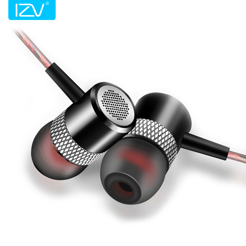 New IZV G1 In-Ear Earphone HIFI Quality Sound fone de ouvido Metal Subwoofer Headset with Mic Handsfree Calling for xiaomi