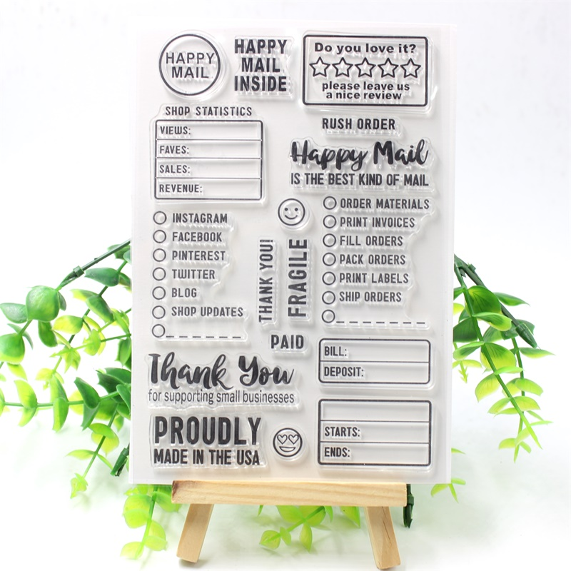 YPP CRAFT Happy Mail Transparent Clear Silicone Stamps for DIY Scrapbooking/Card Making/Kids Fun Decoration Supplies