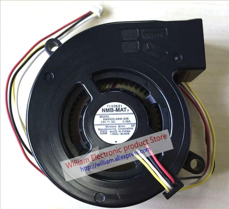 Projector Fan NMB-MAT  BM6920-09W-S66 13V 0.38A 4pin
