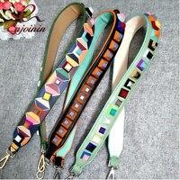New Style Fashion Punk Colorful Rivets Casual Pu Leather Ladies Handbag Shoulder Strap Belt Bag Accessories