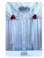 100 cm Tall Kryształ ślub budynkiem kwiat stoiska, ślub Dostaw 10 sztuk/partia