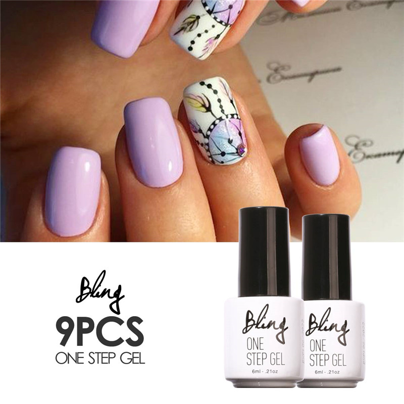 FOCALLURE Choose 9 Colors Pro One Step Nail Gel Polish Nail Art Design Easy to Wear with 30 Days Long-lasting UV Gel Polish