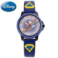 Disney Super Mickey mouse Children PU Band Quartz Waterproof Watches Child Luminous Hand Sport Watch Boy Student Time Gift Clock