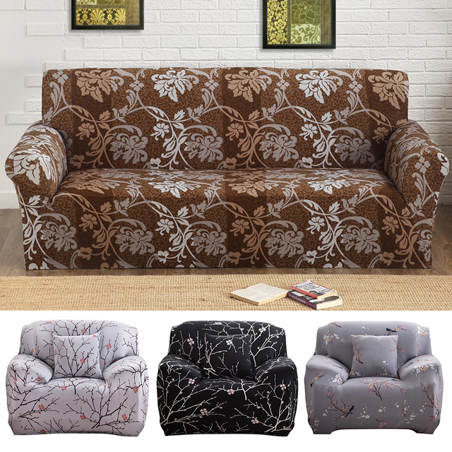 Merveilleux Sofa Covers European Style Print For Living Room Cotton Strech 1/2/3 Seat