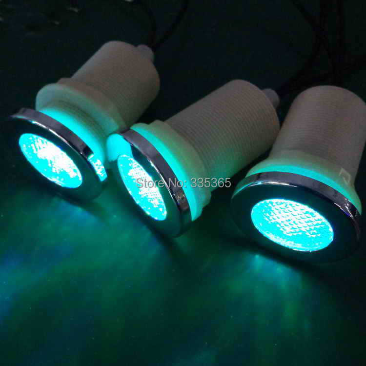6pcs X underwater waterproof LED chromotherapy lamp for bath tub ...