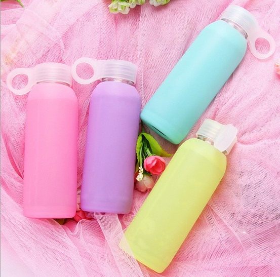 1PC 300ML Candy Glass Bottle Colored Jelly Kettle With Silicone Cover High Borosilicate Water Bottle Fashion Kettle EKD 1468|bottle fashion|fashion bottlebottle color - AliExpress