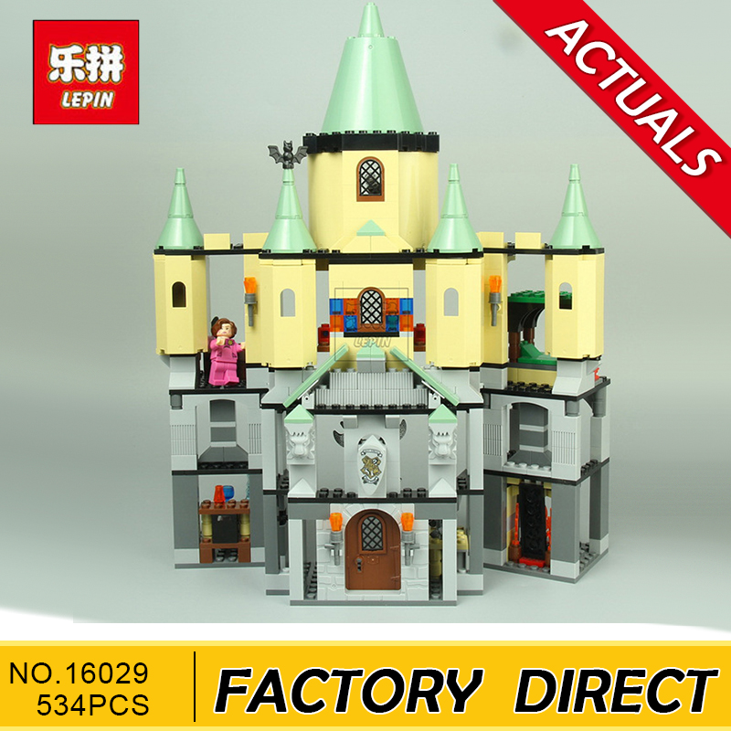 Lepin 16029+16030 Movie Series Hogwarts Castle Set Building Blocks Bricks Compatible 5378 4842 Educational Toys Model As Gift lepin 16030 1340pcs movie series hogwarts city model building blocks bricks toys for children pirate caribbean gift