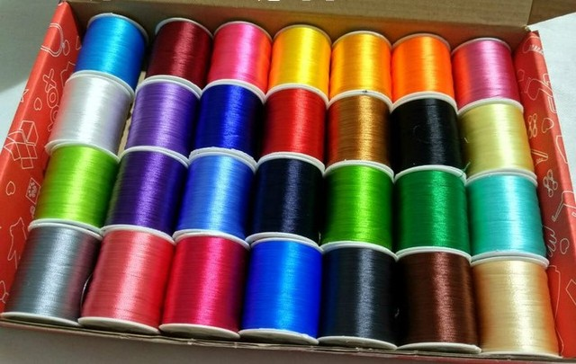 120d2 28pcslot Multicolor Polyester Embroidery Thread Sewing