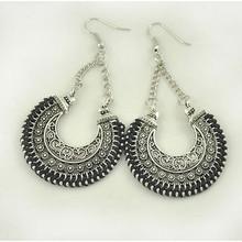 LOVBEAFAS 2018 Fashion Boho Drop Earrings For Women Jewelry Vintage Silver Long Earrings Bohemian Rope Wrap Earrings bijoux