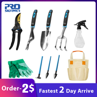 Prostormer 10 Piece Garden And Garden Tool Set Gardening Kits With Gloves Gardening Gifts Tool Set With Trowel Pruners