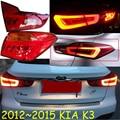 Carro-styling, KlA K3 Taillight, 2012 ~ 2015, Livre O navio! 4 pcs, K3 nevoeiro luz; cromo, K3 cauda lâmpada, K3S,-car detector, K2, Ceed, Forte, Cerato